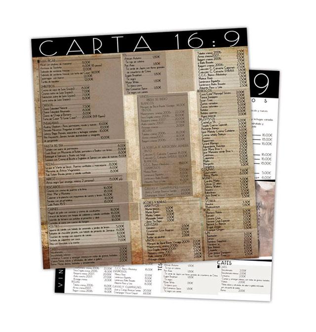 16:9 diseño de carta realizado por Garaje Gráfico.