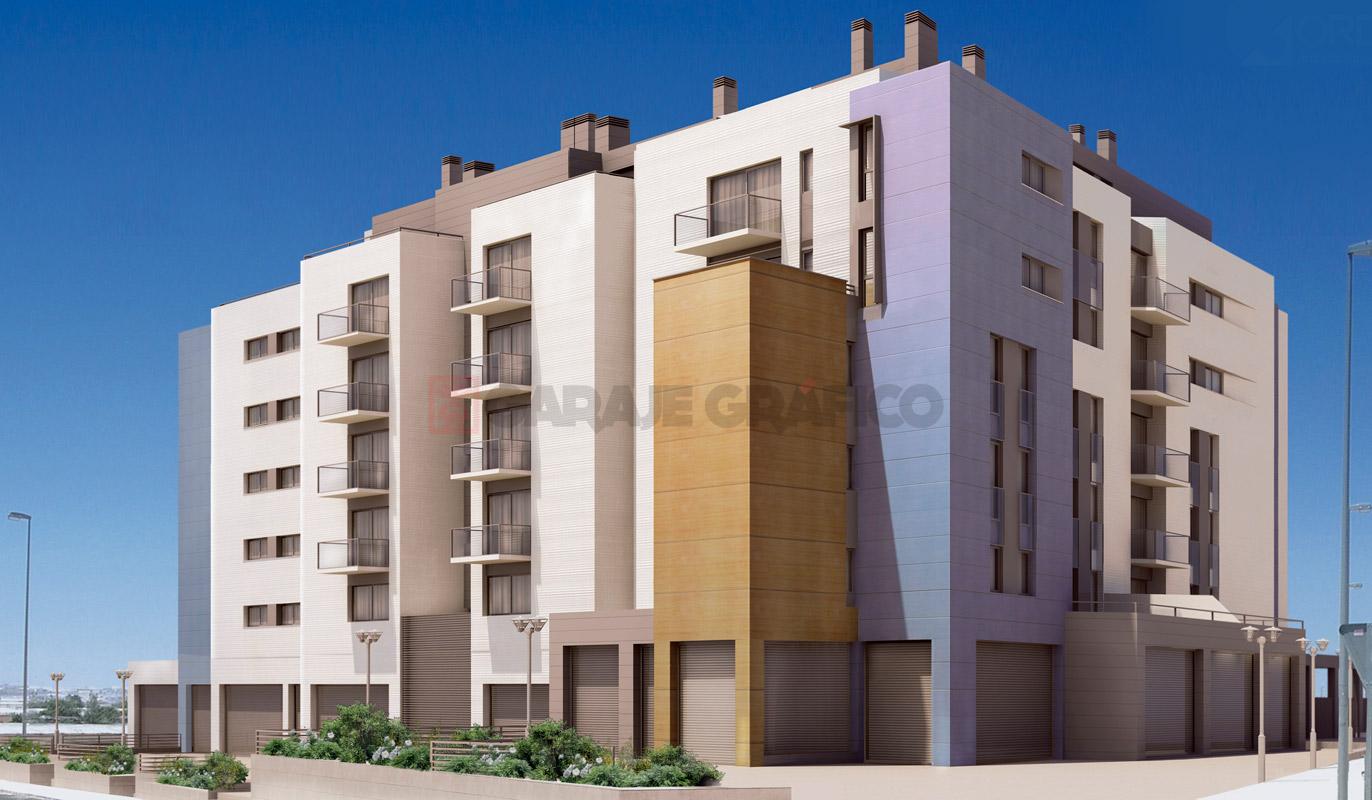 perspectivas 3d exteriores edificio
