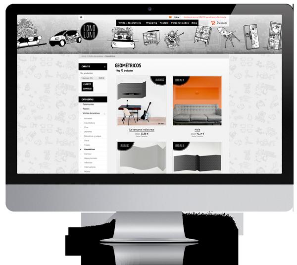 desarrollo web diseño moderno tienda online lokoloko