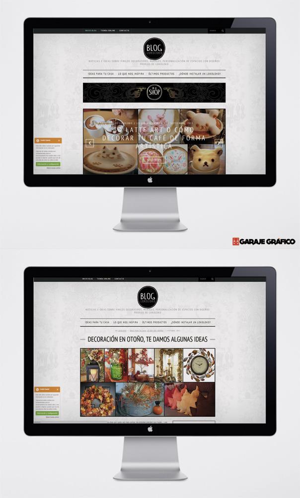 diseño maquetacion pagina web blog