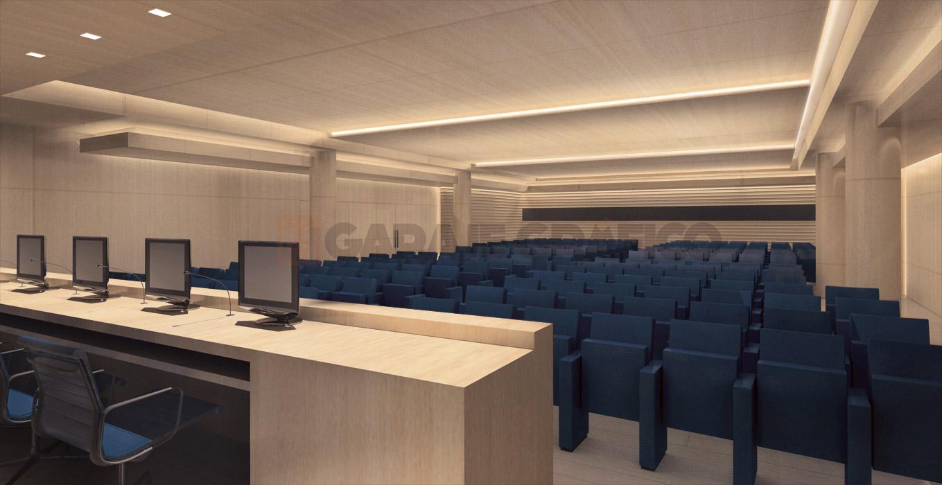 sala presentacion proyectos arquitectura 3d