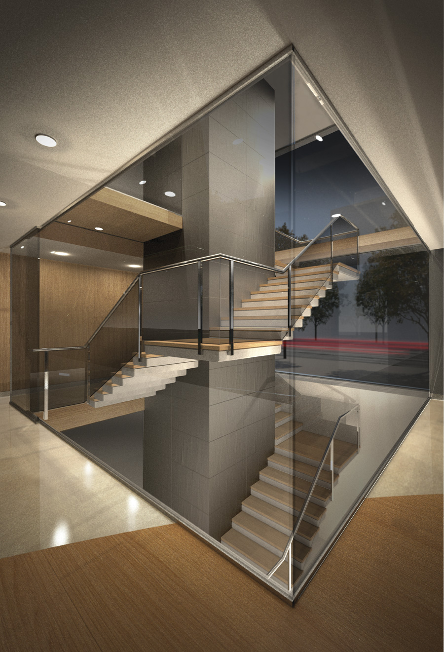 architectural 3d stairs