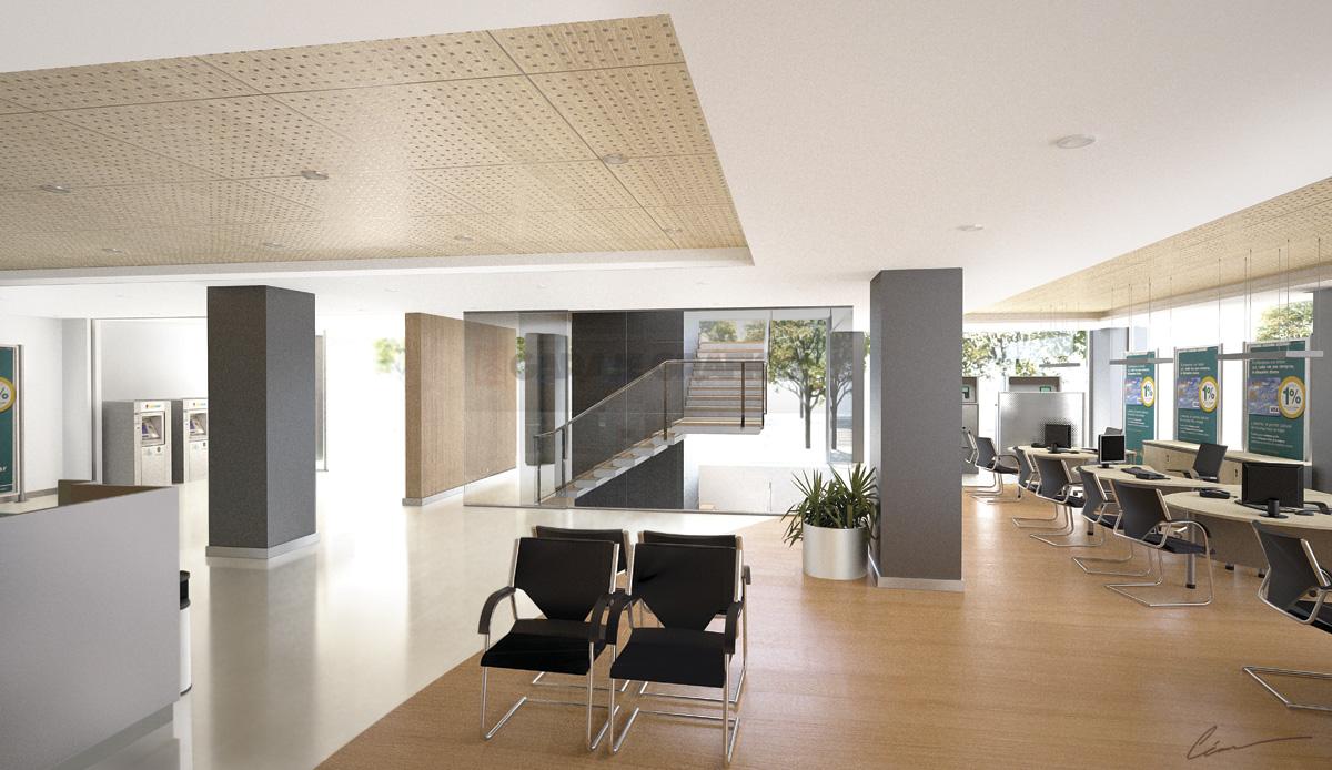 plantas 3d oficinas