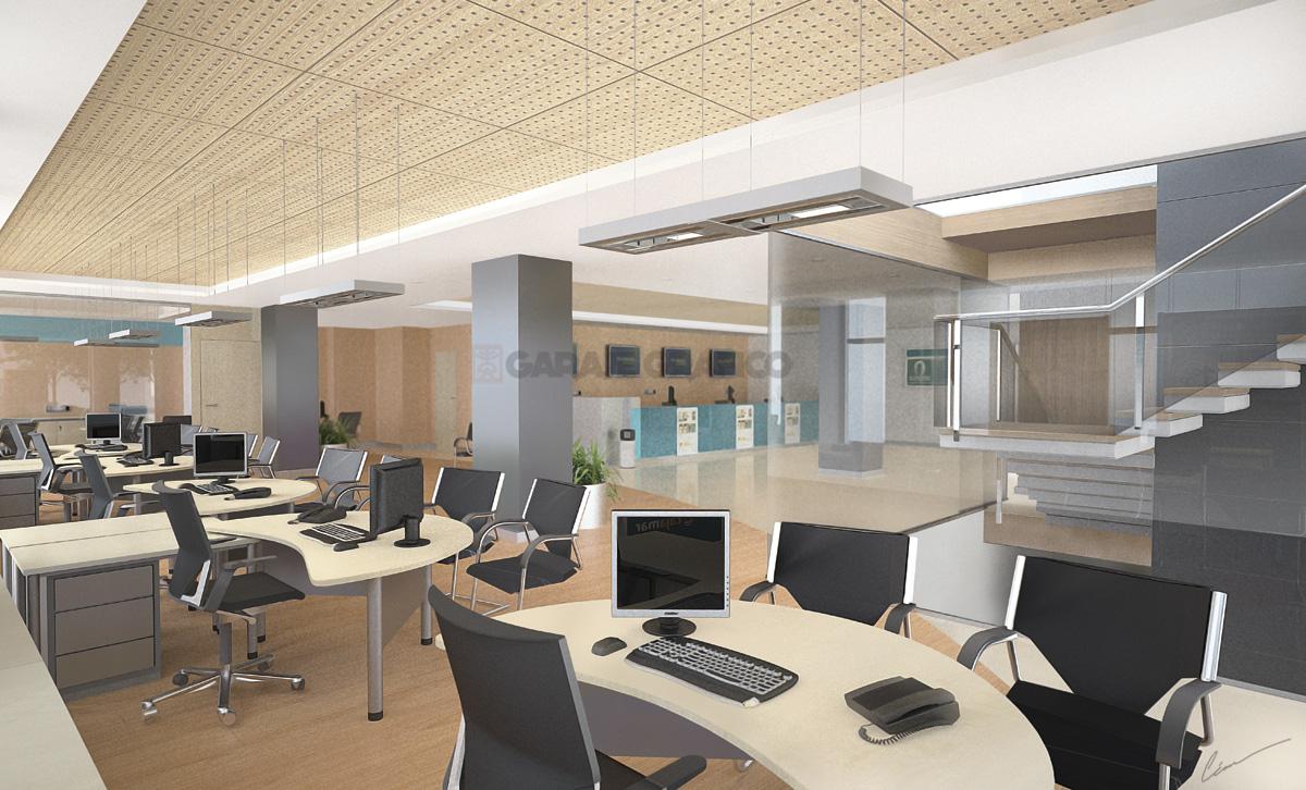 diseño oficinas interiores 3d