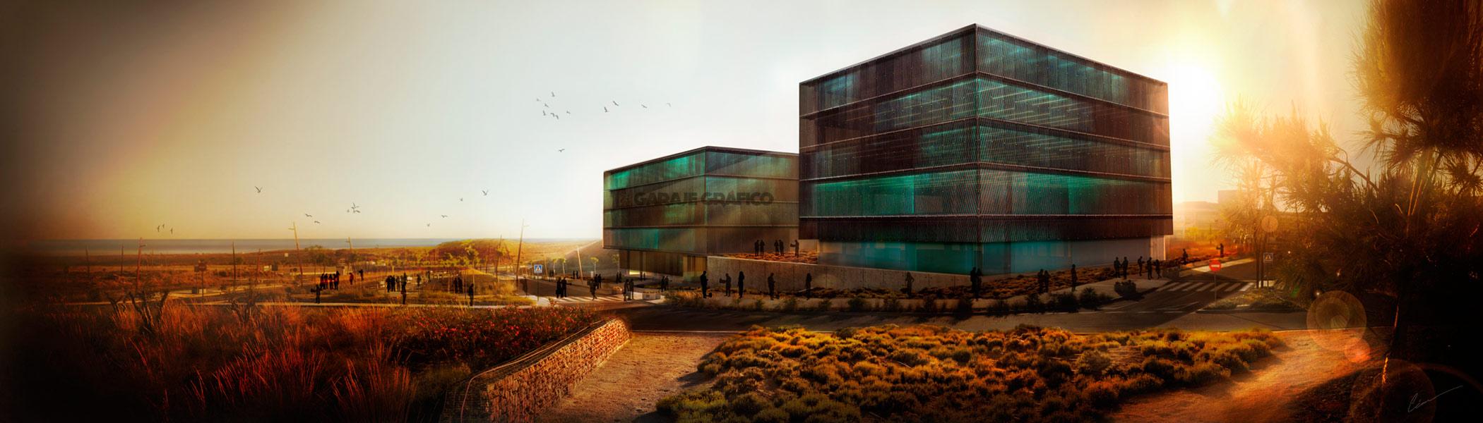 concurso de arquitectura 3d garaje grafico