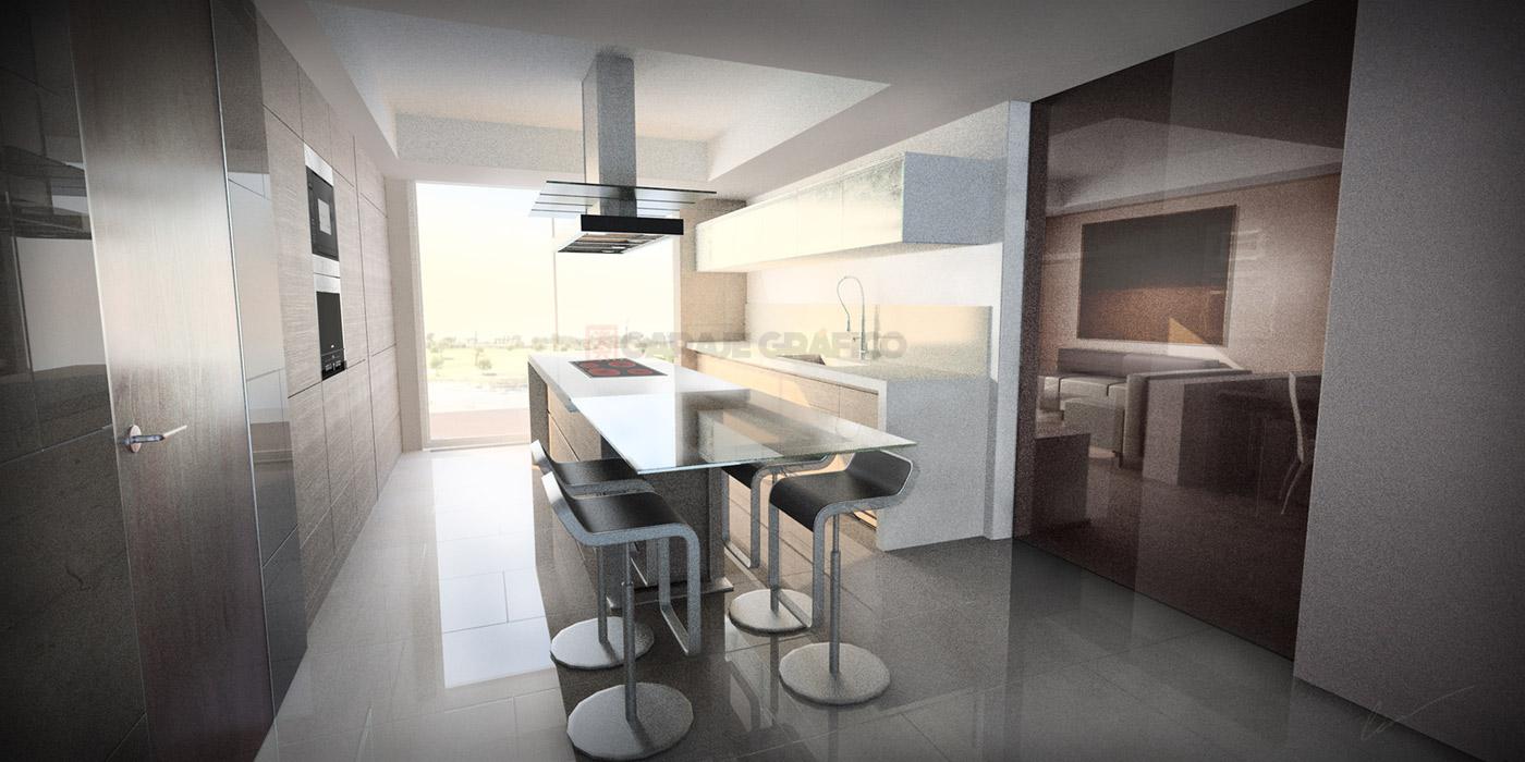diseño decoracion interior 3d cocina