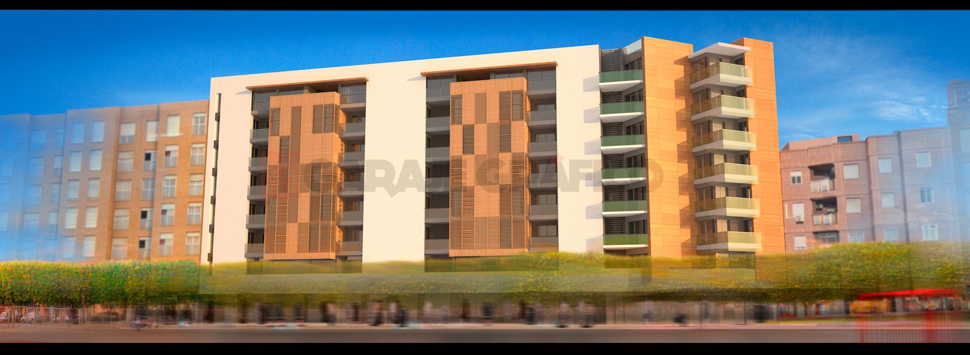 exteriores 3d infografia almeria