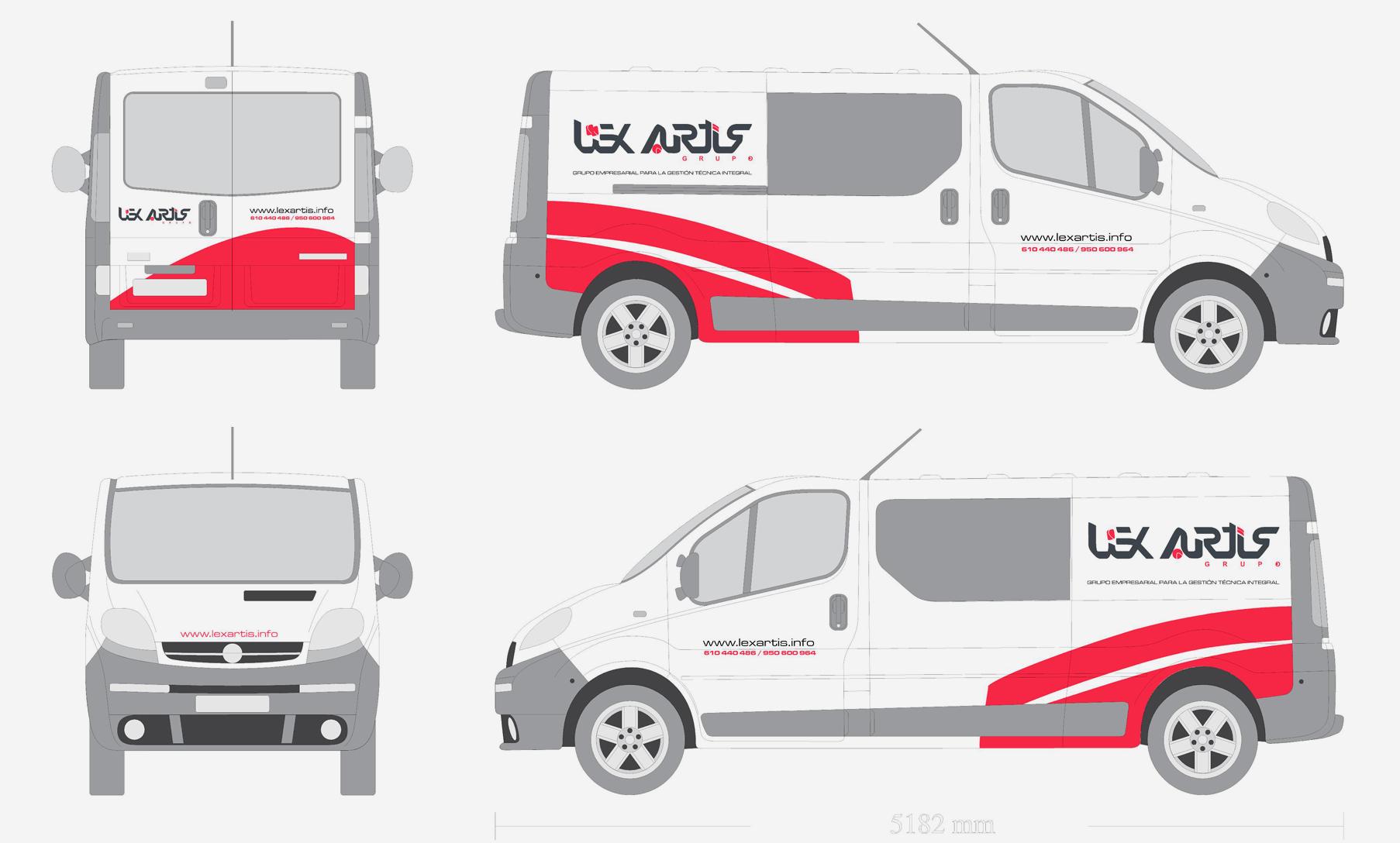 diseño grafico rotulacion furgonetas almeria