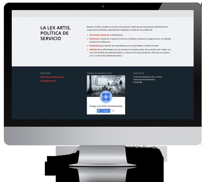 diseño web pagina de presentacion