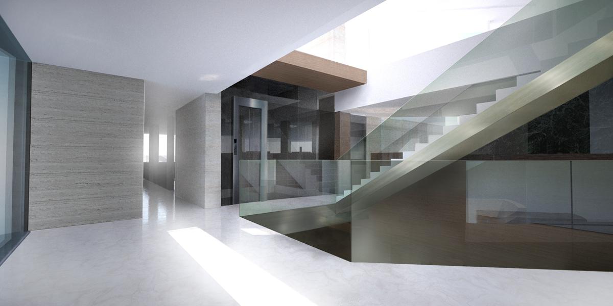 proyecto de arquitectura interior 3d