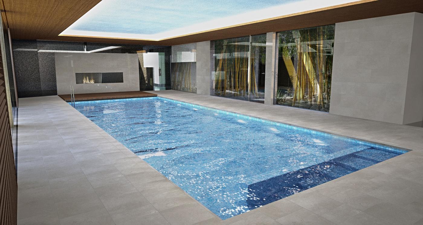 interiores 3d piscina