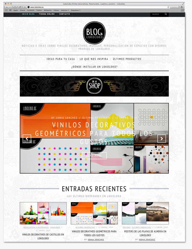 maquetacion web blog