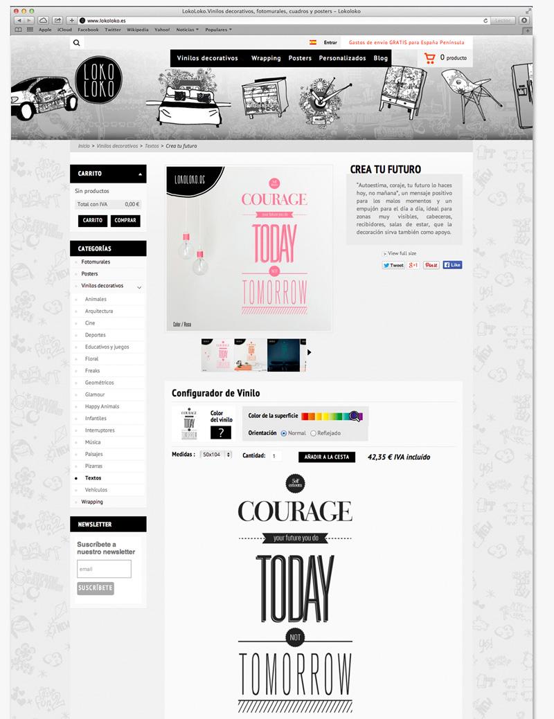 diseño paginas web vinilos decorativos tienda online
