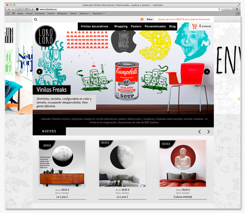 slide diseño web lokoloko