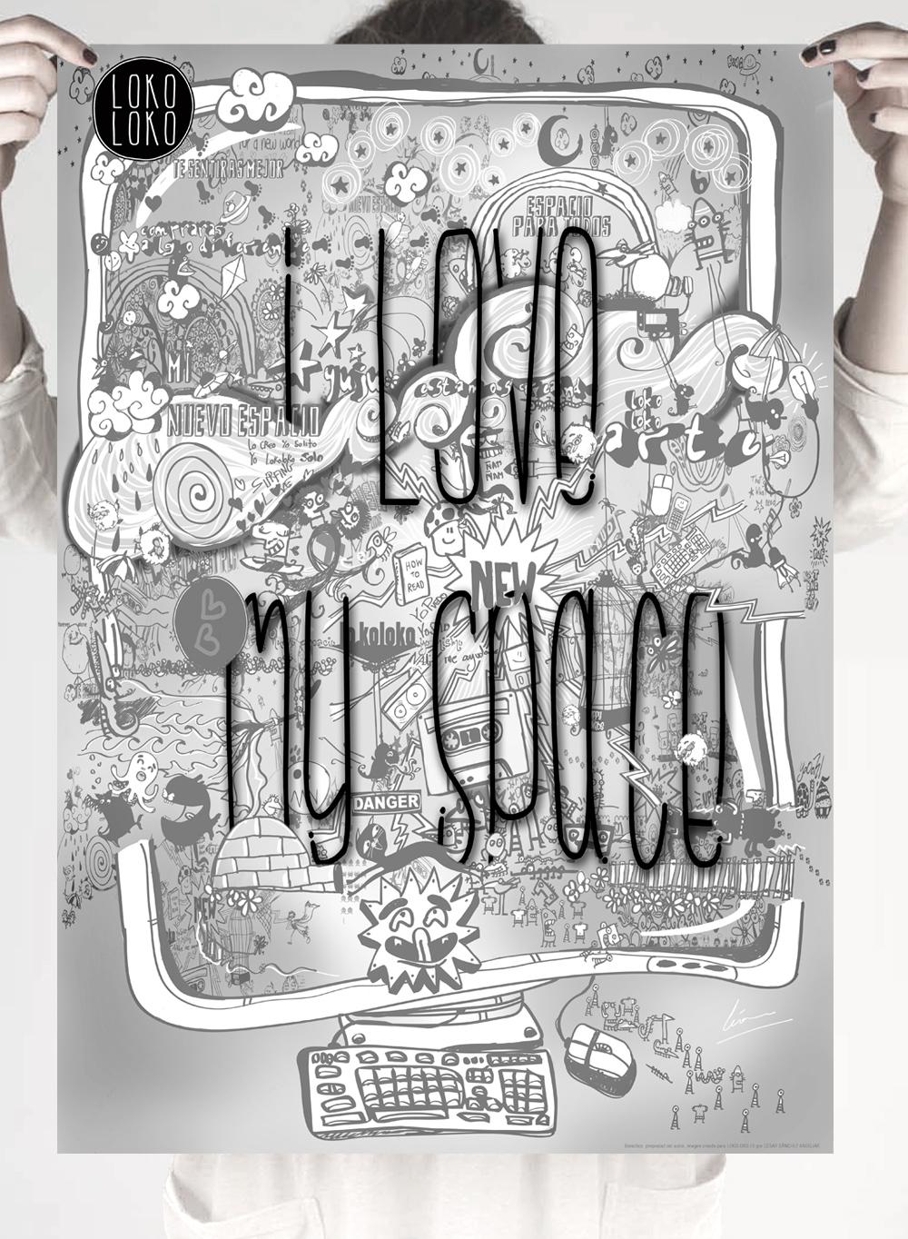lokoloko ilustracion poster