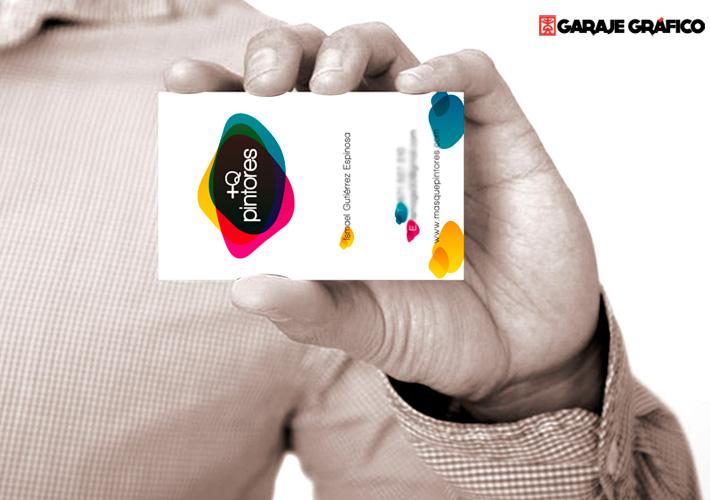 Tarjeta de visita diseñada por Garaje Grafico para +Q Pintores.