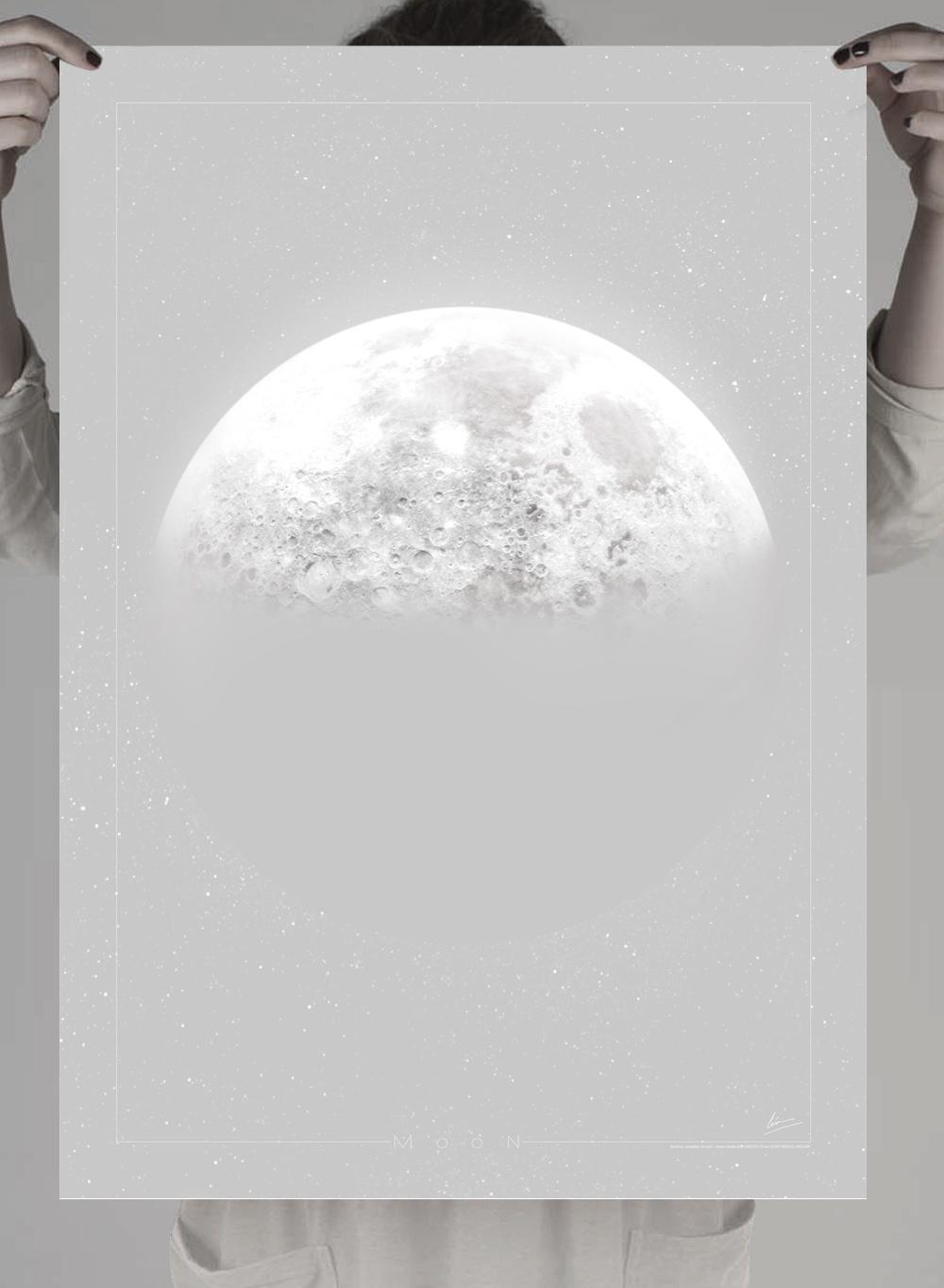 luna poster para imprimir garaje grafico