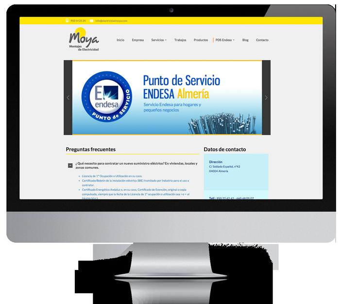 presentacion pagina web empresa electricidad