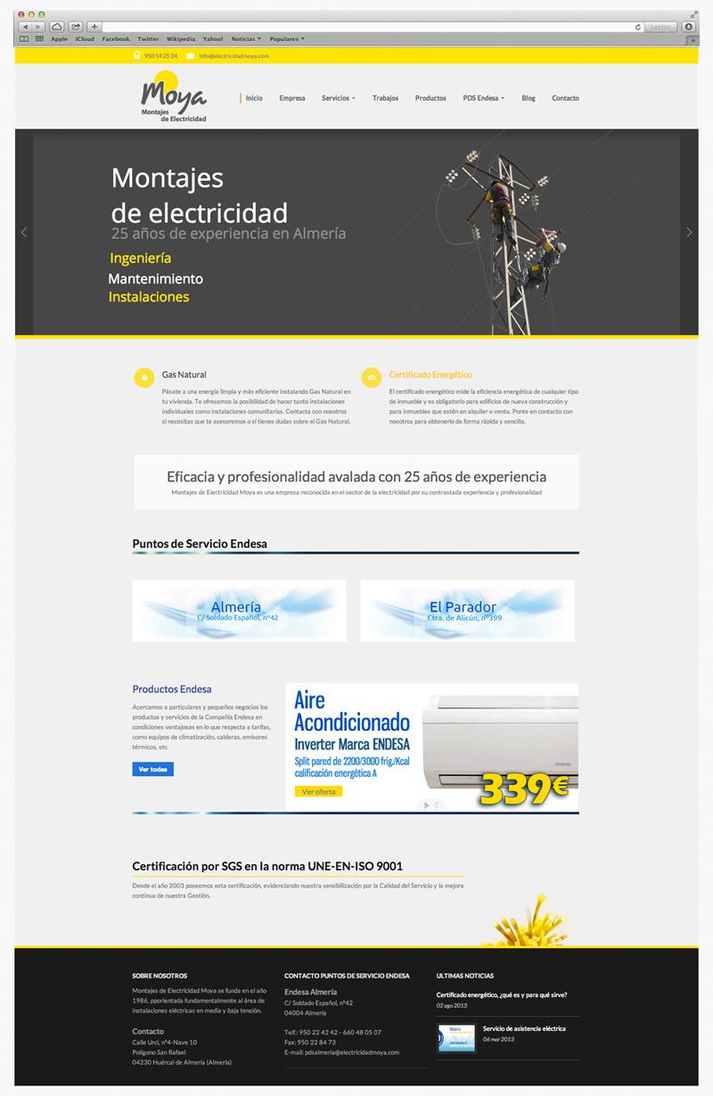 diseño paginas web empresa electrica