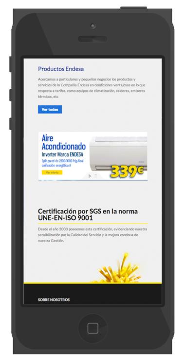 desarrollo web empresa electricidad