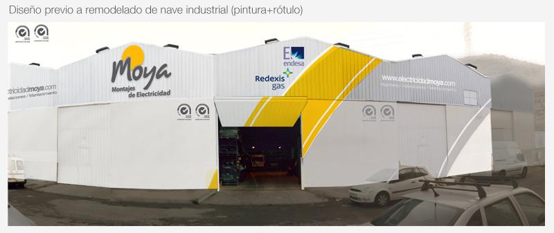 diseño de fachadas rotulacion exterior