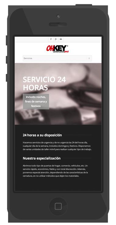 pagina web diseño cerrajeros