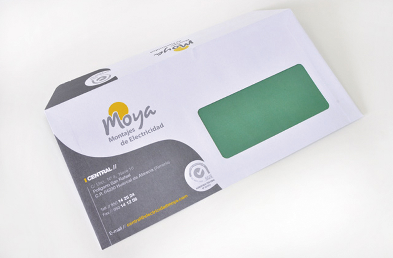diseño grafico sobre de carta