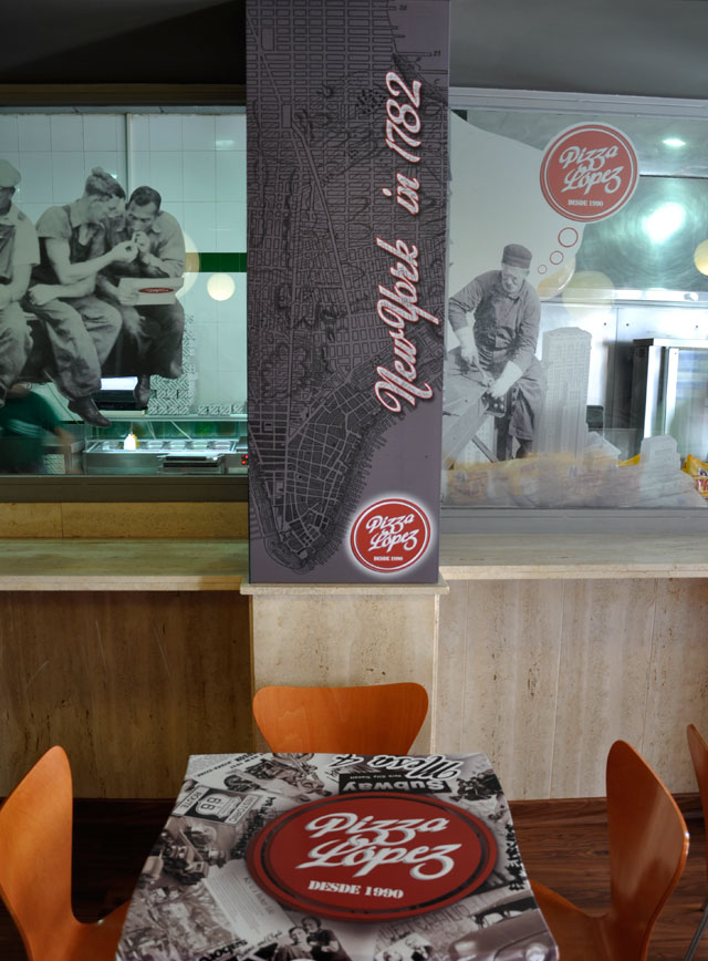 rotulacion en vinilo decoracion de restaurantes almeria