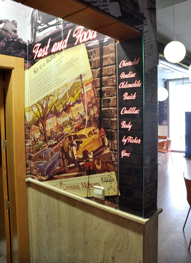 vinilos decorativos paredes restaurantes almeria Garaje Grafico
