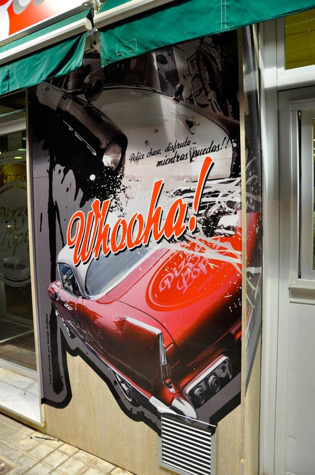 vinilo para paredes diseño grafico restaurante almeria