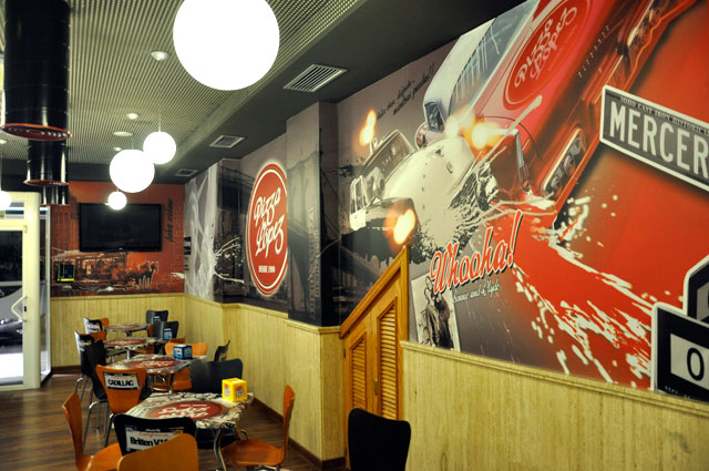 decoracion mural restaurante vinilos de impresion