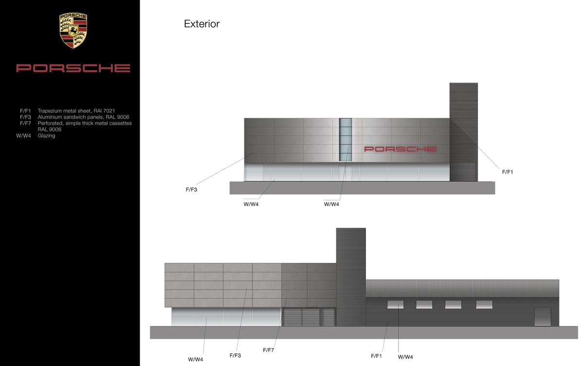 diseño planos 2d porsche almeria