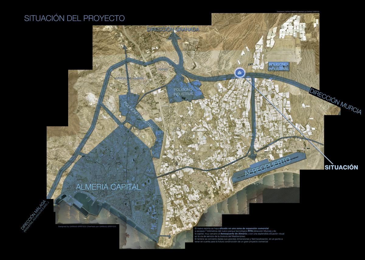 infografias mapa de situacion almeria
