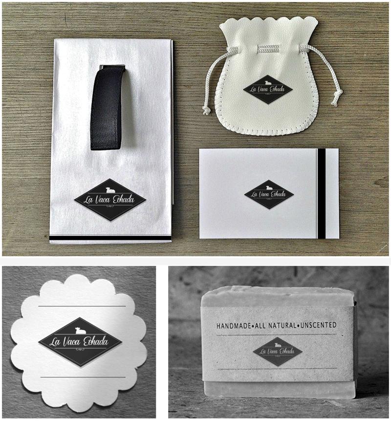 Papeleria corporativa marca de productos naturales y packaging almeria de estética vintage, diseño de garaje grafico
