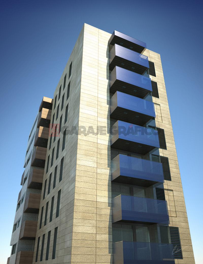 infoarquitectura perspectivas 3d edificio