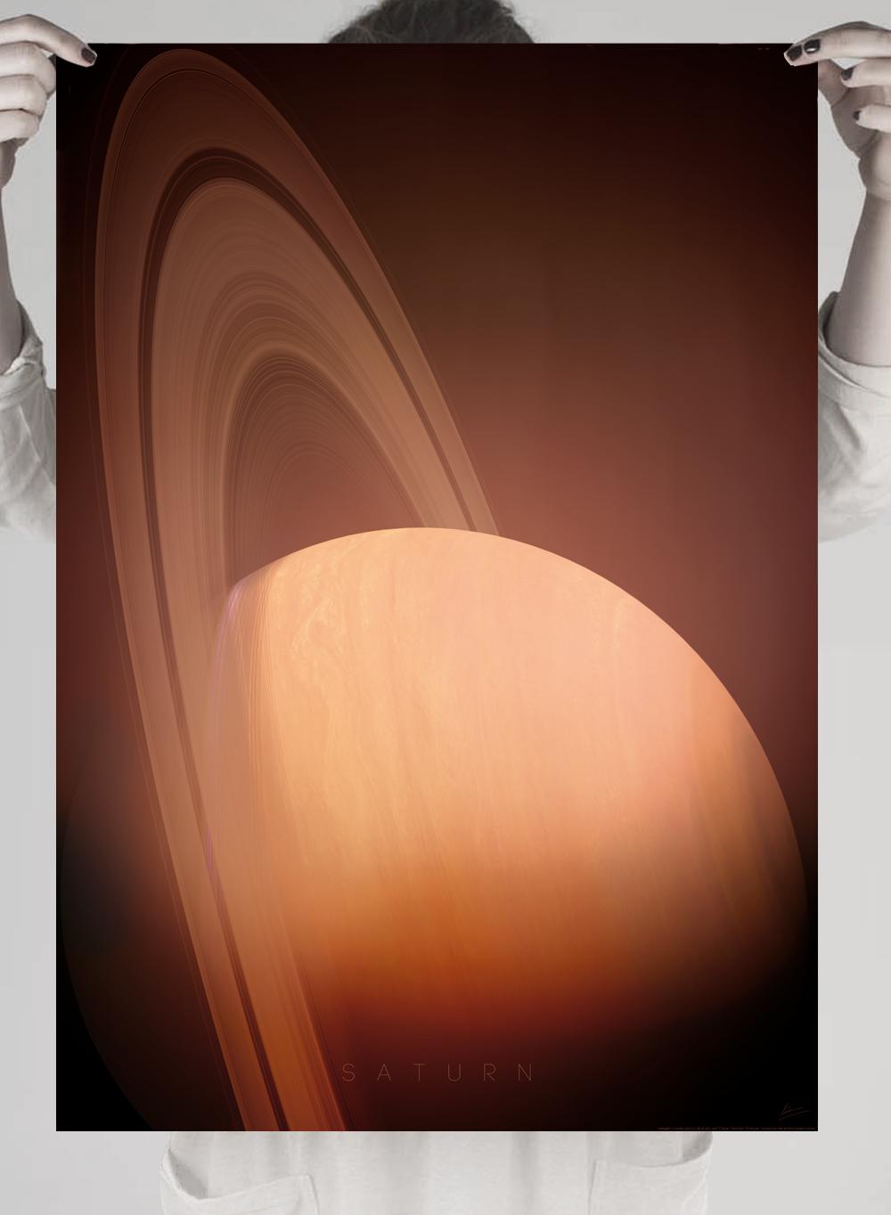 poster planetas saturno