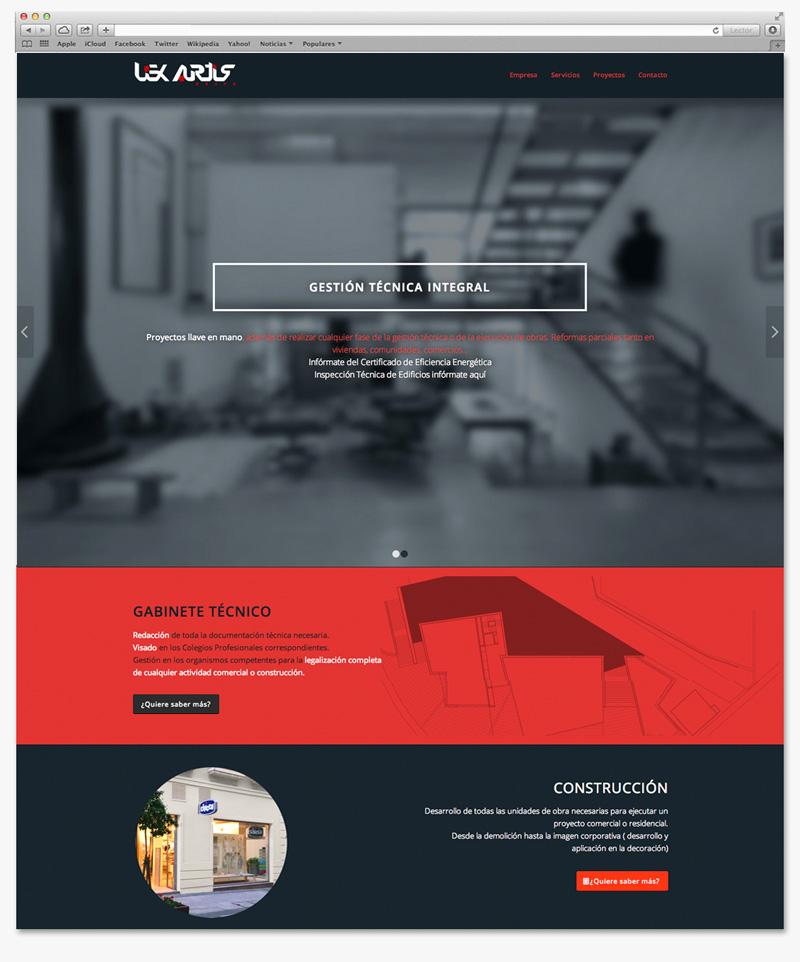 desarrollo web diseño moderno pagina de presentacion Garaje Grafico