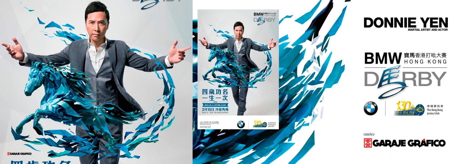 Diseño para la promoción internacional de DONNIE YEN (BMW DERBY)