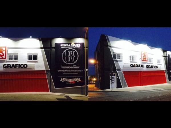 Reforma de fachada y oficinas. Garaje Gráfico y LOKO LOKO