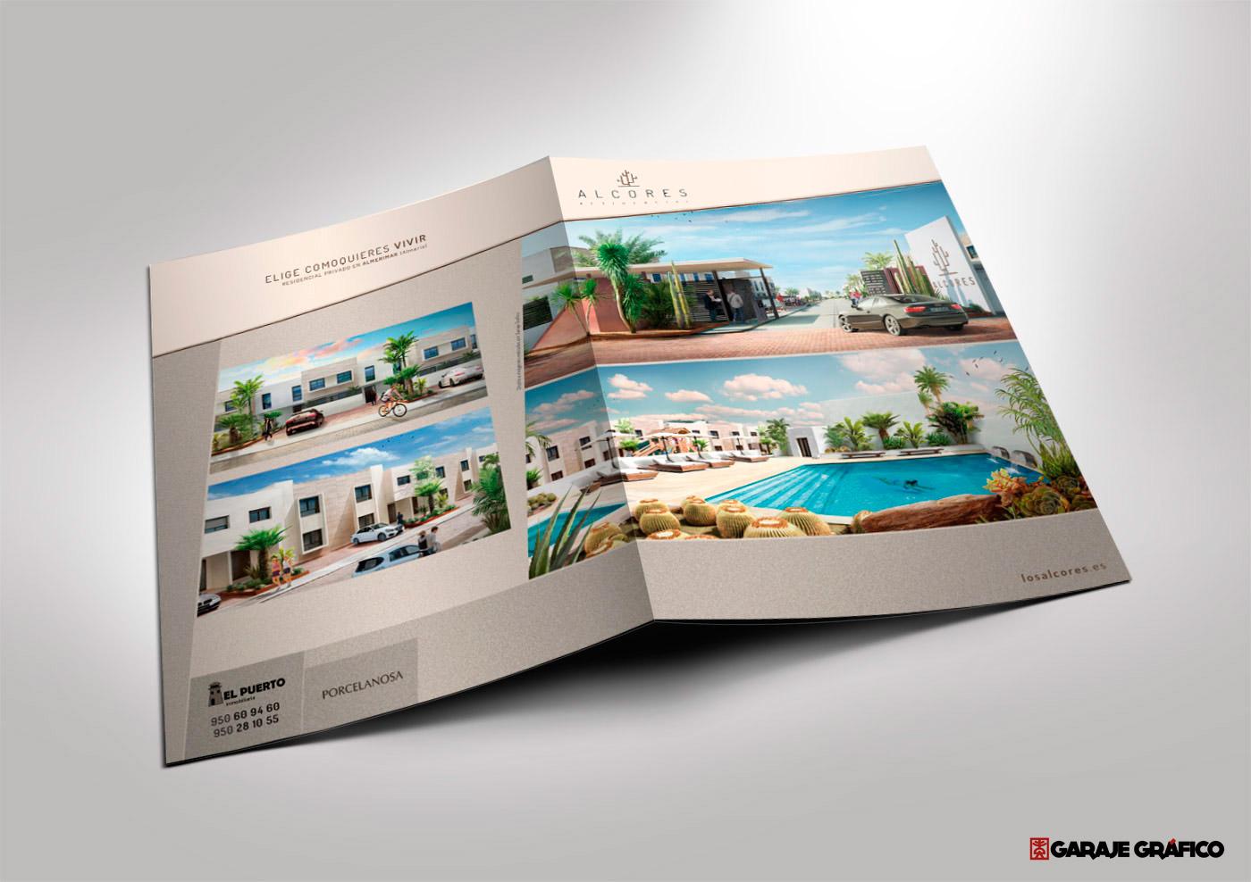 diseño de papeleria corporativa, carpetas, venta inmobiliaria, diseño para venta inmobiliaria, diseño grafico almeria