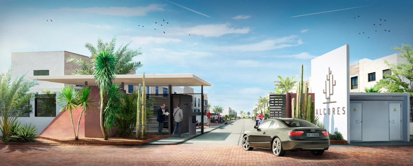 promocion inmobiliaria, 3d, renders, diseño gráfico Almería