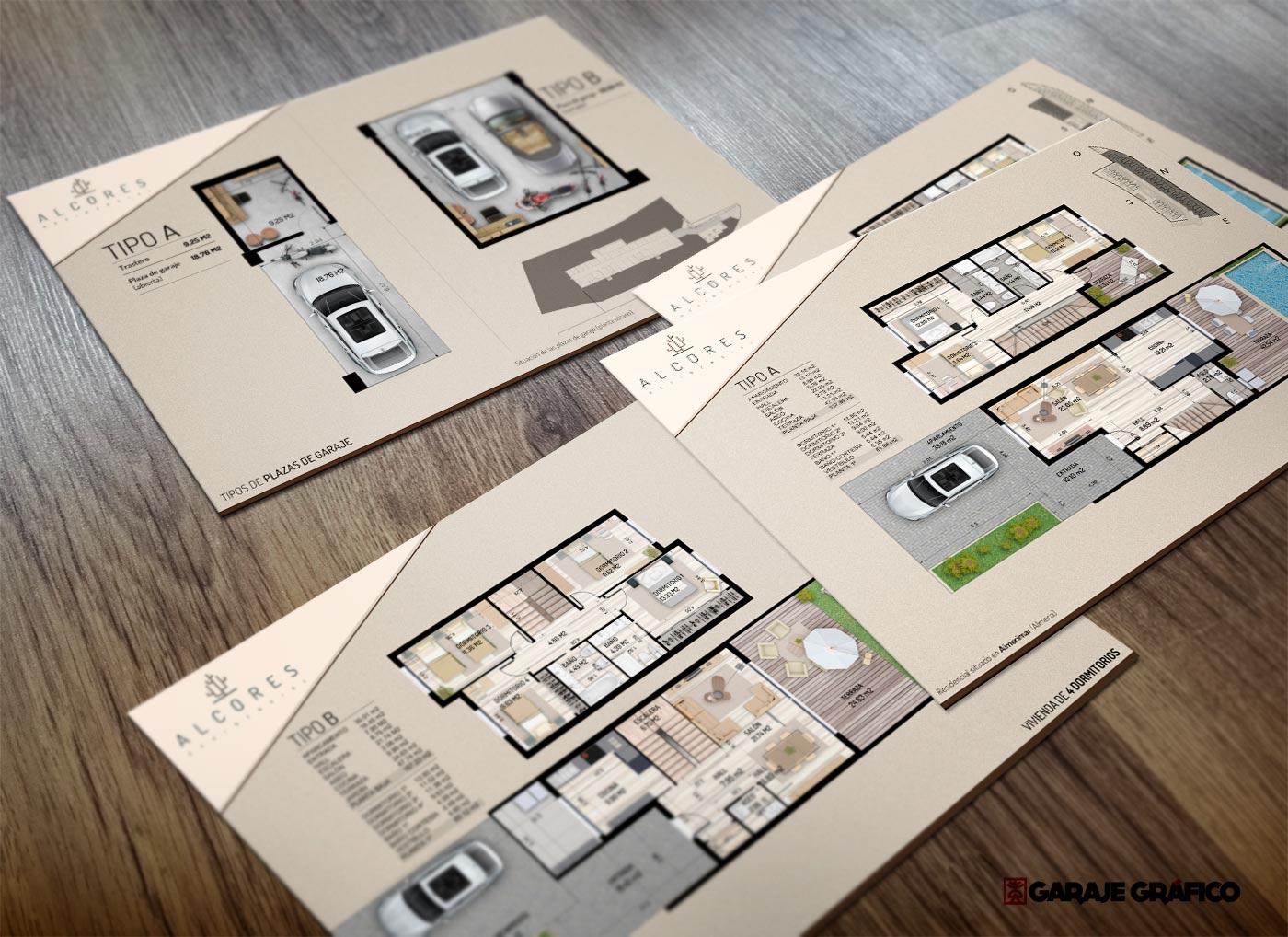 planos_de_ventas_ promocion inmobiliaria arquitectura diseño de planos para venta inmobiliaria garaje grafico almeria